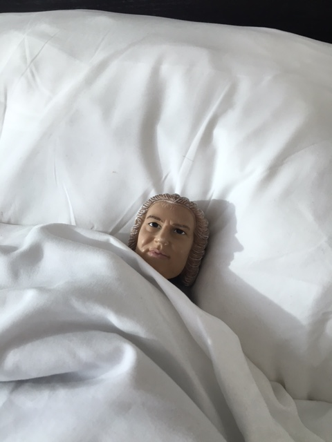 Bach in a bed