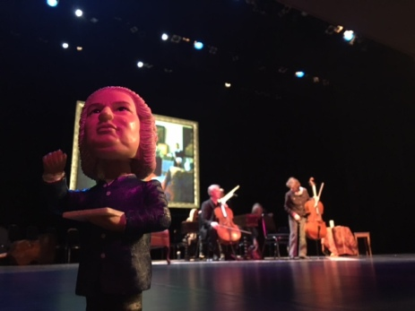Bobblehead Bach supervises rehearsals