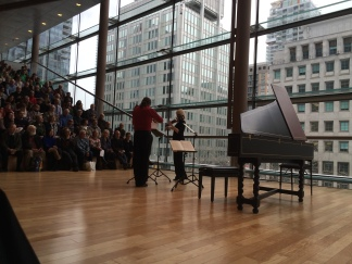 Christopher Verrette and Julia Wedman performing French violin duos