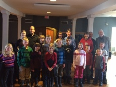 A savvy group of children after our Education concert in Gravenhurst - they had some great questions!