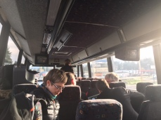On the bus back to Victoria