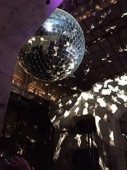 A gigantic disco ball
