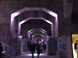 Lit entranceway