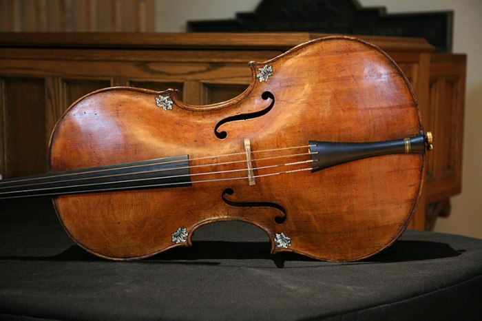 Christophe Coin's 1720's Italian cello