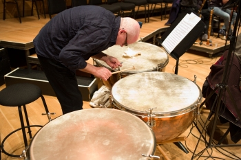 David Campion, timpani. Photo: Peter Laenger