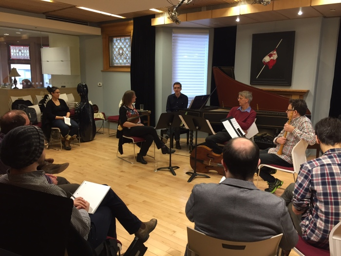 Walking through period performance with the composers. Canadian Music Centre