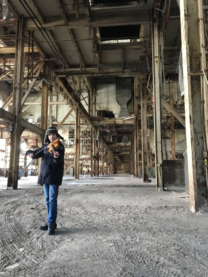 Preliminary sound check at the Hearn Generating Station for Luminato Festival, 2016.