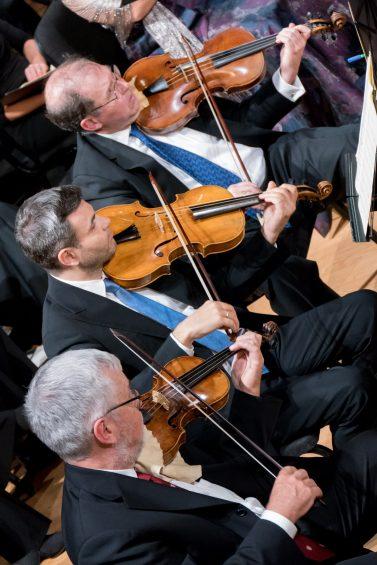 "Stefano performing in ""Let Us All Sing! Tafelmusik Chamer Choir at 35"" with violist Patrick Jordan, and violinist Thomas Georgi. Photo credit: Trevor Haldenby"