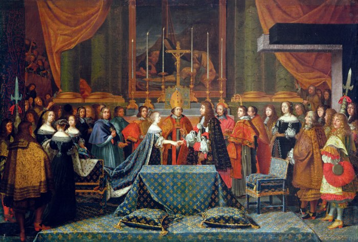 Painting of Wedding of Louis XIV of France, June 9th 1660 by Jacques Laumosnier