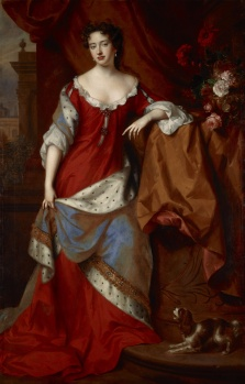 Queen Anne, when Princess of Denmark, 1665 – 1714 by Willem Wissing and Jan van der Vaardt. 1685.