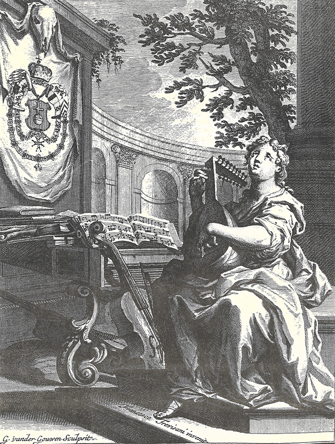 Engraving from Roger's edition of Corelli Opus 6.