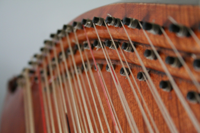 Detail of the harp