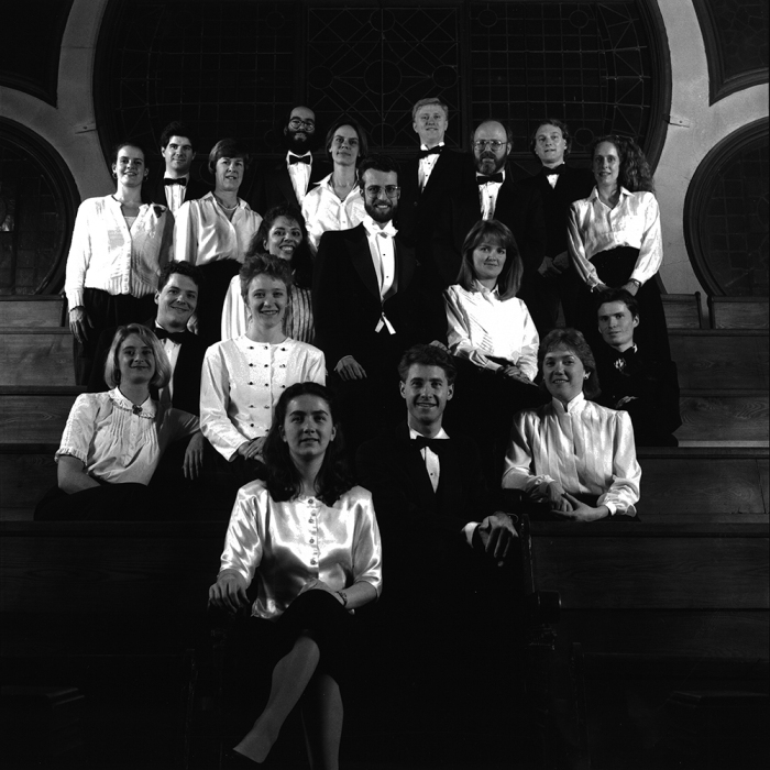 Tafelmusik Chamber Choir (Note soprano Julie Payette — now Governor General — in upper left corner)