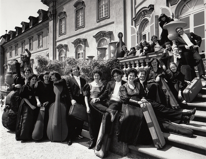 On the steps of Ludwigsburg Palace, May 1989